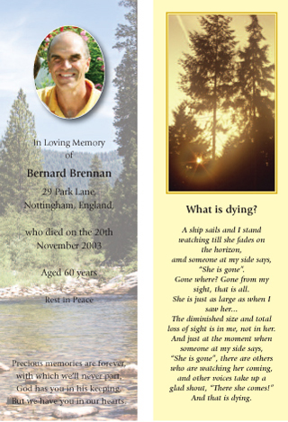 C&R Print | Memorial Bookmarks & Remembrance Stationery